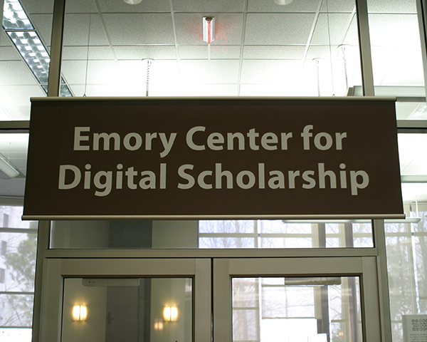 Photo of Library signage