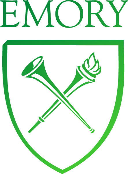The Emory logo in a green color
