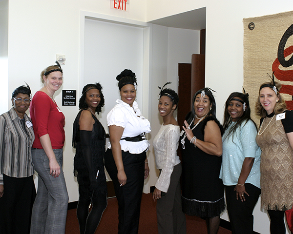 Photo of staff members dressed in 1920's attire