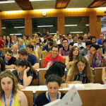 Photo of students in a lecture hall