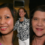 Photo collage of three women
