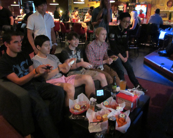 Photo of people playing games at Battle & Brew