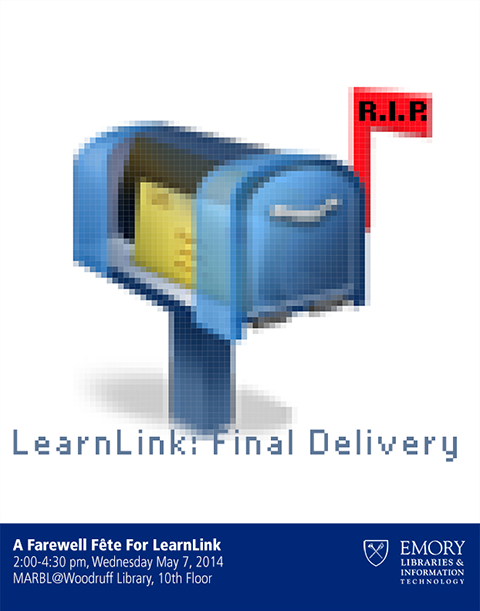 Poster used for LearnLink retirement party