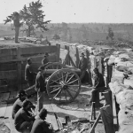 Photo of Confederate fortifications around Atlanta, fall 1864