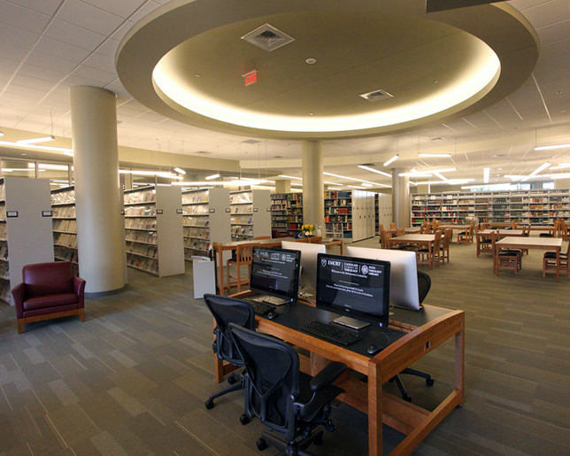 Interior view of the Pitts Theology Library