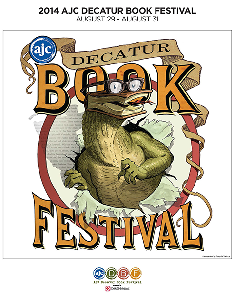 Poster for the 2014 AJC Decatur Book Festival