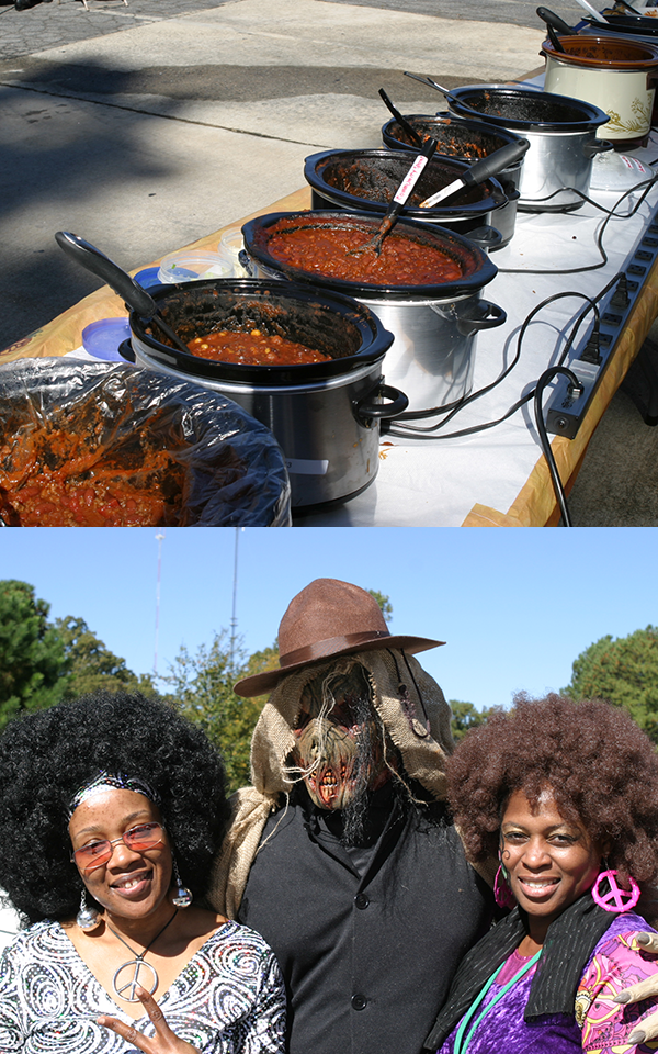 Collage of chili cookoff photos