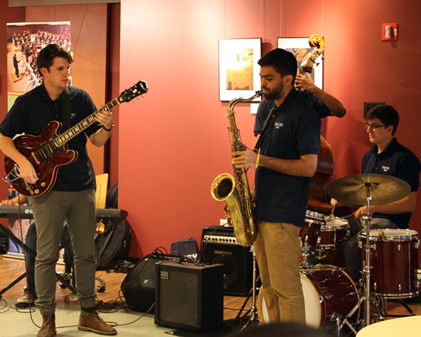Photo of a jazz group performing