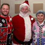 Photo of staff at a holiday party