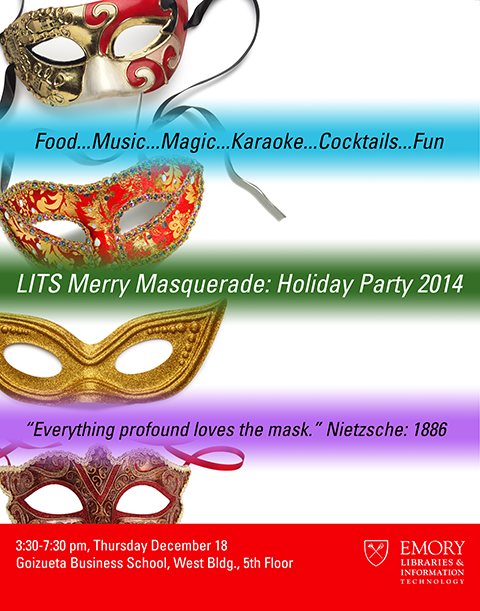 Poster for annual holiday party