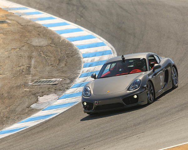 Photo of a Porsche on a track