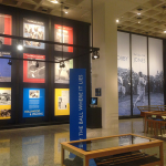 View of an exhibit gallery