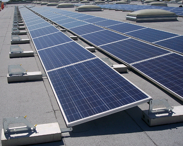 Photo of rooftop solar panels