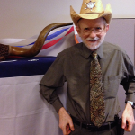 Photo of an employee wearing a cowboy hat