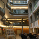 Interior view of an atrium