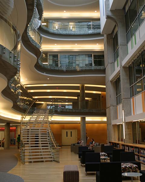 Interior view of an atrium