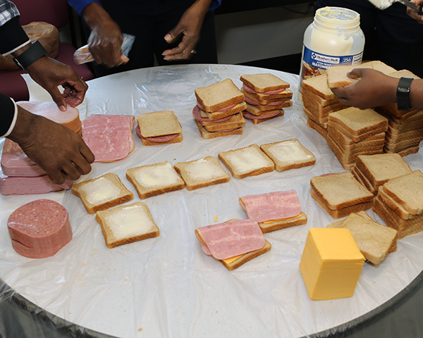 Photo of sandwiches being made
