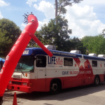 Photo of a blood mobile
