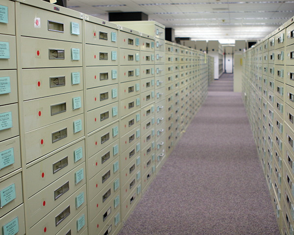 Photo of file cabinets