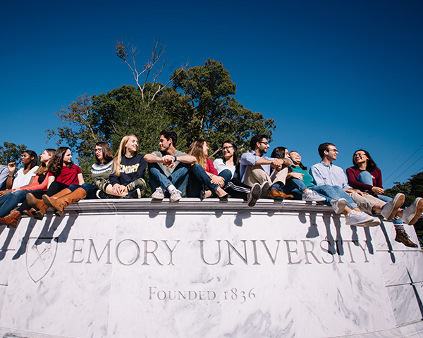 Photo of Emory students