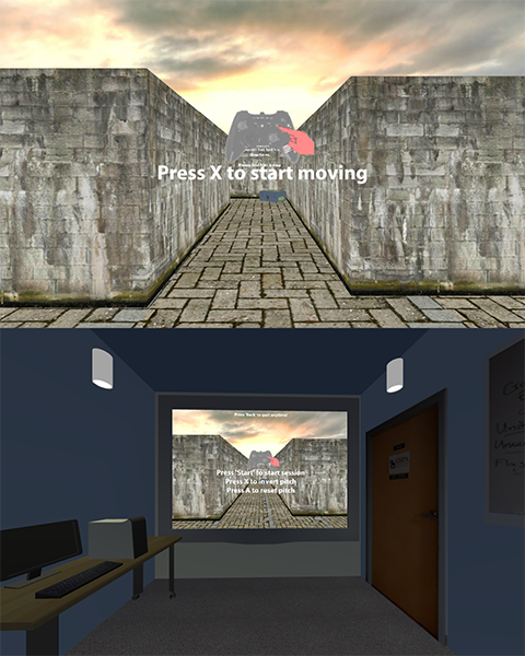 Scenes from a VR player