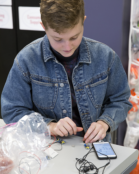 Photo of student working