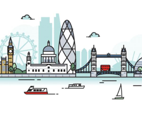 Illustration of London skyline