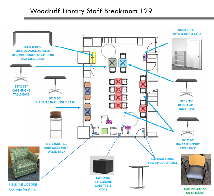 floor plan of breakroom
