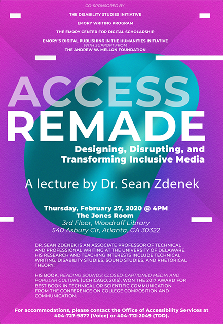 photo of access remade lecture poster