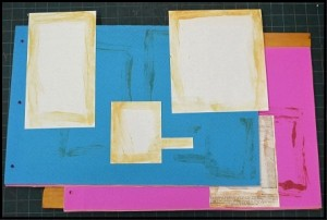 Various pages with adhesive stain map