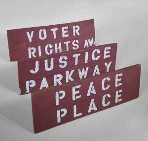 Street signs from Resurrection City, Washington, DC, 1968