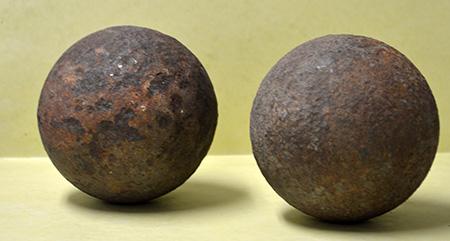 Civil War cannonballs