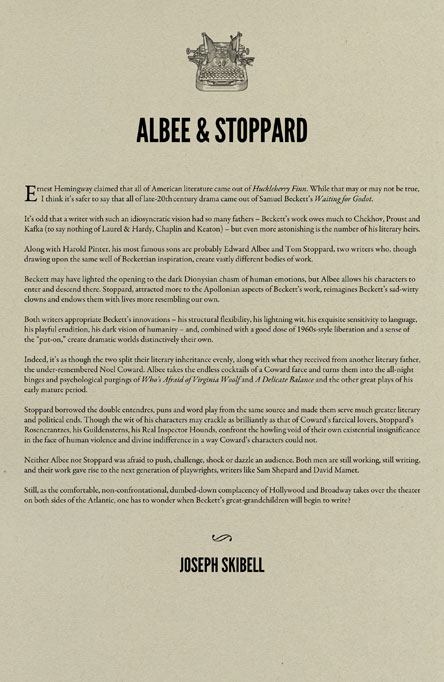 Edward Albee and Tom Stoppard