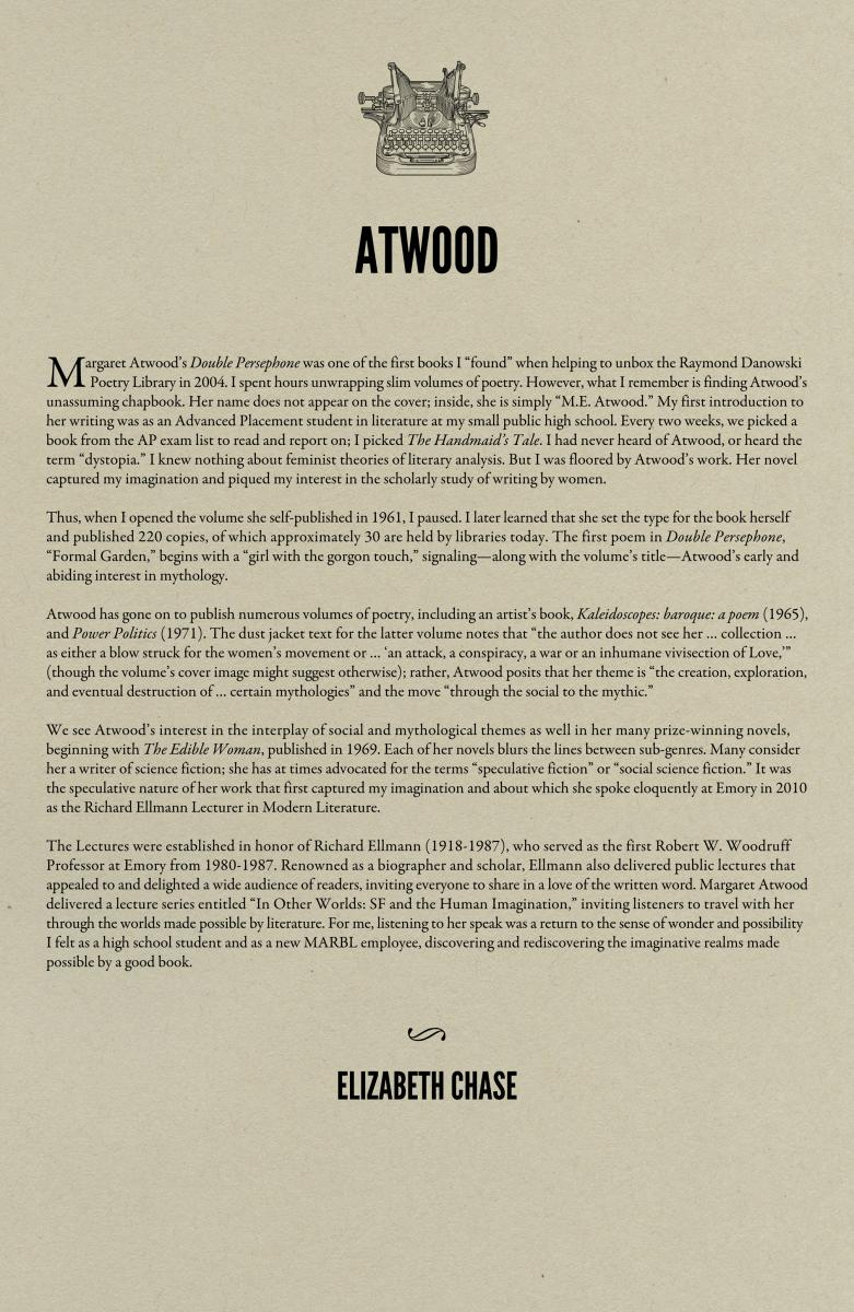 """homelanding by margaret atwood essay Hell hath no fury like a science fiction fan scorned margaret atwood knows this  firsthand over the years, the author of """"the handmaid's tale''."""