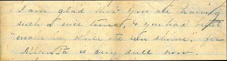 Correspondence from Imogene to Amaryllis