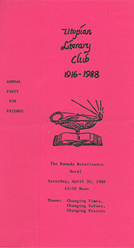Utopian Literary Club Annual Party for Friends
