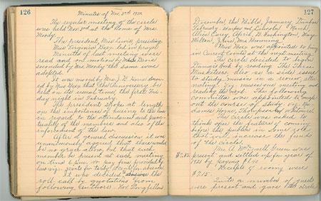 Minutebook from Savannah Literary and Social Circle