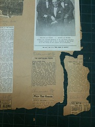 Page detail from Miller's Scrapbook