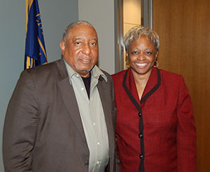 Rev. Bernard Lafayette, distinguished senior scholar in residence at Candler School of Theology, and Carol Anderson, associate professor of African American Studies at Emory.