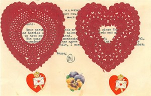 Valentine from H. L. Mencken to Gretchen Hood