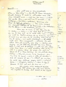 Letter from Walter Augustus Simon to Virginia, October 22, 1941