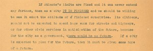 Excerpt of Letter from Dixie Dowis to William B. Hartsfield, 1970