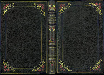 Theatre, Maurice Maeterlinck, 1901-1902, modern morocco binding with delicate color detailing