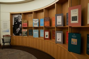 """Detail of the Rotunda from the """"Seamus Heaney: The Music of What Happens"""" Exhibition"""