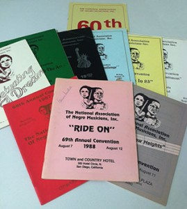 A selection of programs from The National Association of Negro Musicians, Inc. conventions.