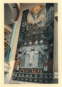 "John Bigger's mural, ""Ascension"", circa 1992, Winston-Salem, North Carolina."