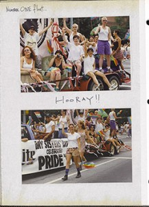 Atlanta Pride Parade, June 29, 1997. Number ONE float...
