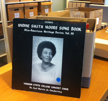 Processing Undine Smith Moore's Audio Collection