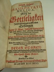 "Praxis Pietatis Melica is the hymnal publication of the original composer of ""Herzliebster Jesu"""