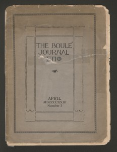 The earliest Boulé journal in Rose Library's collections is from 1923.